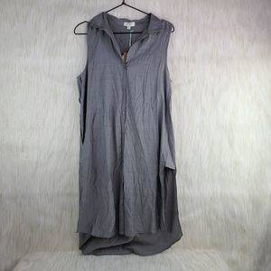 NEW UmGee Gray Sleeveless Button Down Dress